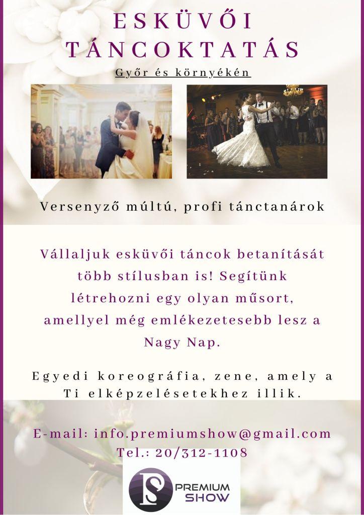 Versenyző múltú, profi tánctanárok. Vállaljuk esküvői táncok betanítását több stílusban is! Segítünk létrehozni egy olyan műsort, amellyel még emlékezetesebb lesz a Nagy Nap.